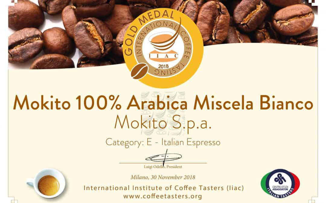 Doppia medaglia d'Oro per Mokito all'International Coffee Tasting 2018